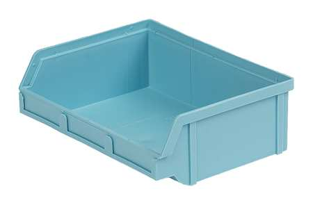Hang and Stack Bin, 6-5/8 In L, Light Blue