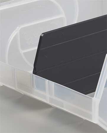 Bin Divider,  Black,  10-3/8in.x6-3/8in.,  PK6