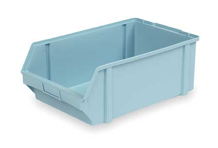 Hang and Stack Bin, 18-1/2 In L, Lght Blue