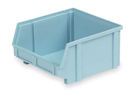 Hang and Stack Bin, 9-3/8 In L, Light Blue