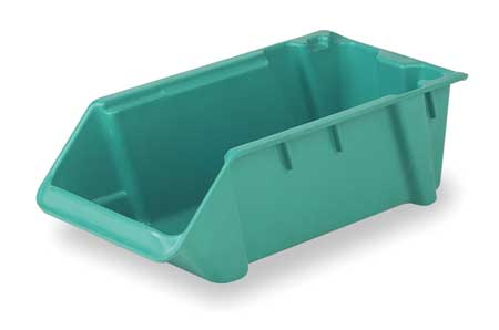 Stack and Nest Bin, 18 In L, Green