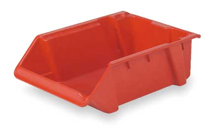 Stack and Nest Bin, 24 In L, Red