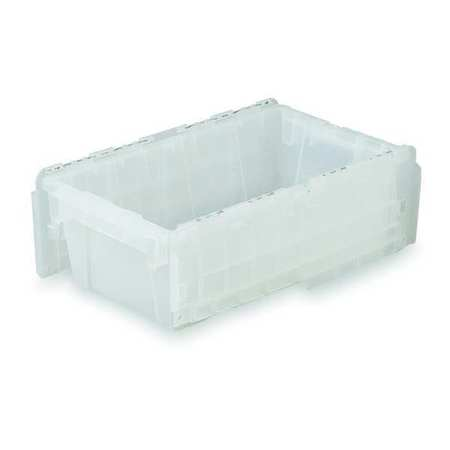 Attached Lid Container,  0.3 cu ft.,  Clear