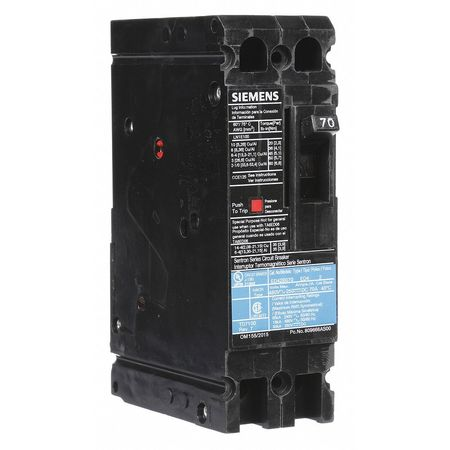 2P Standard Circuit Breaker 70A 480VAC