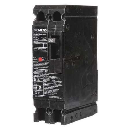 2P High Interrupt Capacity Circuit Breaker 20A 480VAC