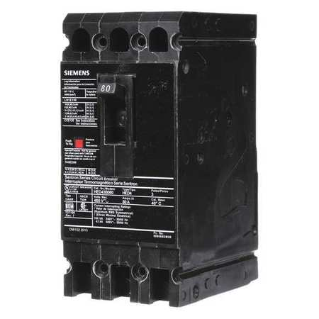 3P High Interrupt Capacity Circuit Breaker 80A 480VAC