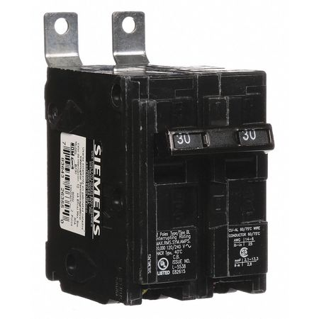 2P Standard Bolt On Circuit Breaker 30A 120/240VAC