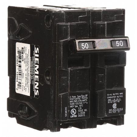 2P Standard Plug In Circuit Breaker 50A 120/240VAC