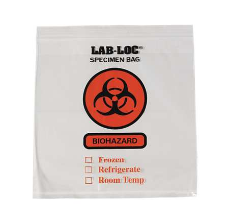 Specimen Transfer Bag, Clear, PK1000