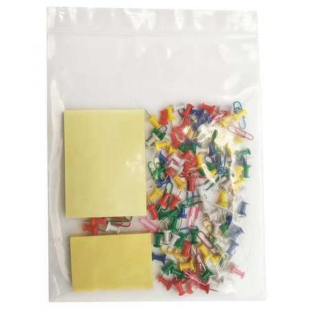 "Zipper Seal Reclosable Bag 8"" x 8"",  4 mil,  Clear,  Pk1000"