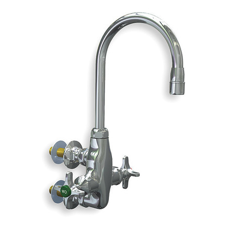 Gooseneck Faucet, Manual, 3/8 In MNPT
