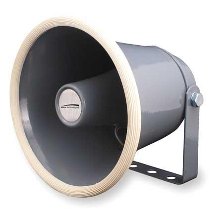 PA Horn, Weatherproof, Gray, 10 W