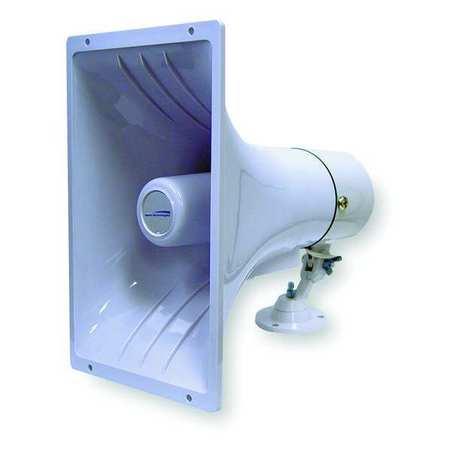 PA Horn, Weatherproof, White, 15 W