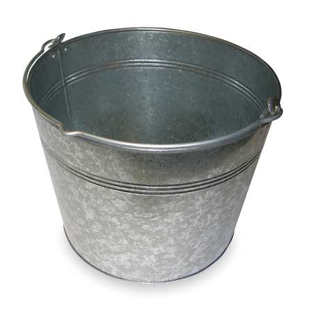 Galv Steel Bucket, Cap 5 Gal, With Handle