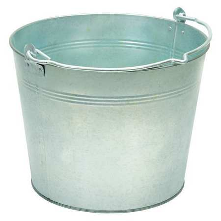 Galv Steel Bucket, Cap 3.25 Gal, w/Handle