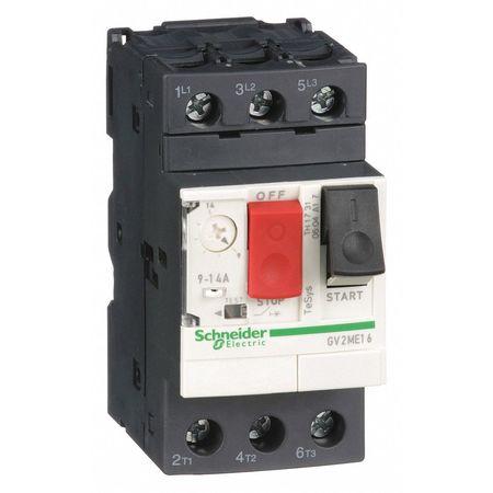 Manual Motor Starter, Button, 9-14A, 1P