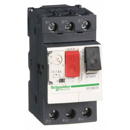 Manual Motor Starter, Button, 13-18A, 1P