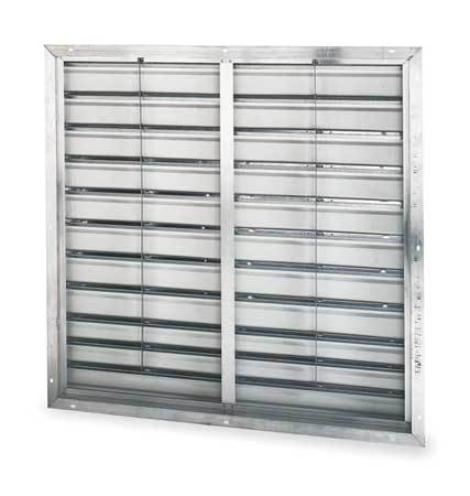Shutter, Wall, 36 In, dbl Pannel, White Alum