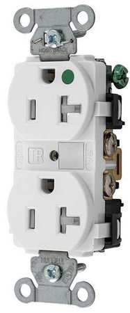 hubbell wiring device kellems 20a duplex receptacle 125vac. Black Bedroom Furniture Sets. Home Design Ideas