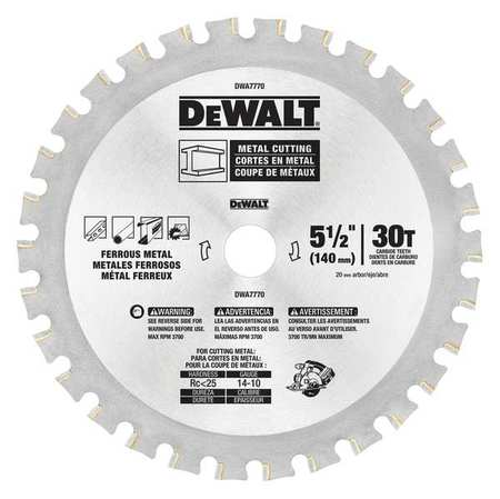 Dewalt circular saw blade steel 5 12in dwa7770 zoro circular saw blade steel 5 12in keyboard keysfo Images