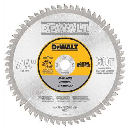 Dewalt circular saw blade aluminum 7 14in dwa7758 zoro circular saw blade aluminum 7 14in keyboard keysfo Images