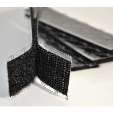 "1"" W x 4"" L Hook-and-Loop Black Reclosable Adhesive Fastener Strip,  50 pk."