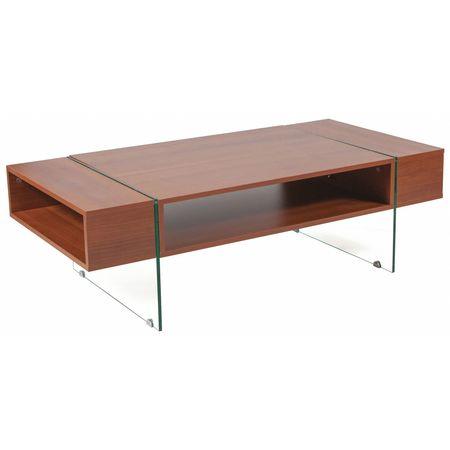Flash Furniture Coffee Table Glass Legs CherryWoodGrain NANJH - Flash furniture coffee table