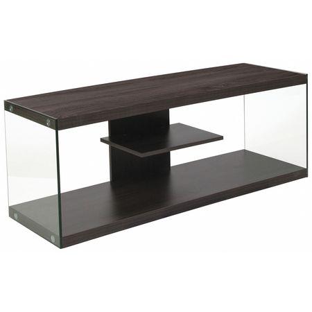 Flash Furniture Tv Stand Shelves Wood Glass Frame Nan Ts1018 Gg