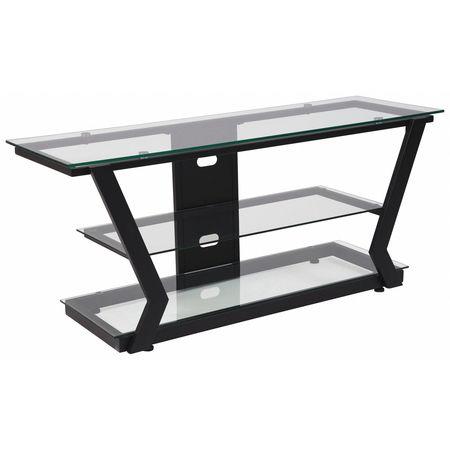 Flash Furniture Tv Stand Glass Black Metal Frame Nan Jh 1760 Gg