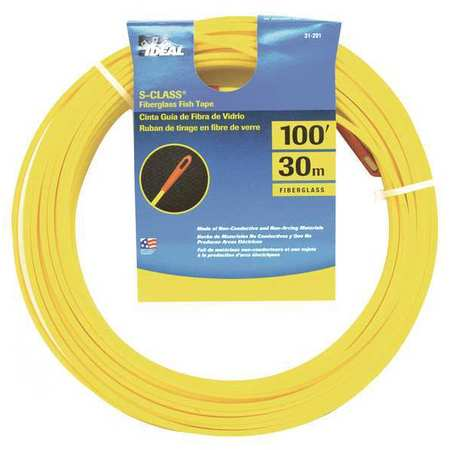 Ideal fish tape 3 16 in x 100 ft fiberglass 31 201 for Ideal fish tape