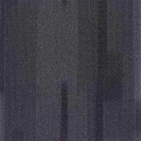 Carpet Tile, 19-11/16in. L, Charcoal, PK20