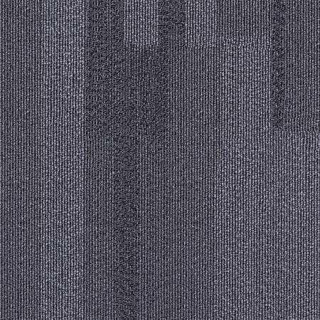 Carpet Tile, 19-11/16in. L, Dark Gray, PK20