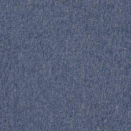 Carpet Tile, 19-11/16in. L, Blue, PK20