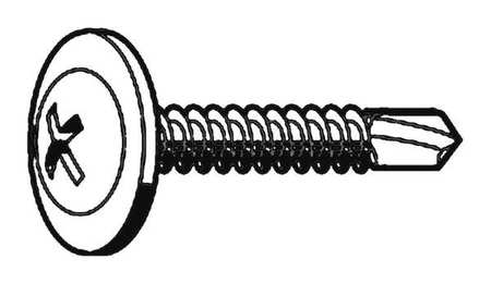 "Self Drill Screw,  8-18 x 3/4"" L,  PK 200"