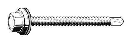 "Self Drilling Screw, #10-16, 5/8"" L, PK100"