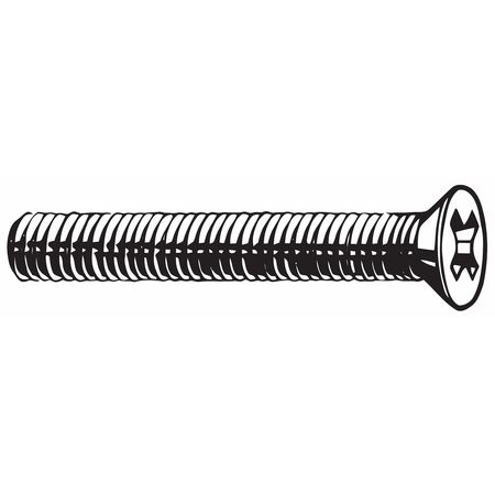M6-1.0 x 35 mm. Flat Head Phillips Machine Screw,  10 pk.