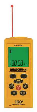 Laser Distance Meter,LCD,0 to 130 ft.