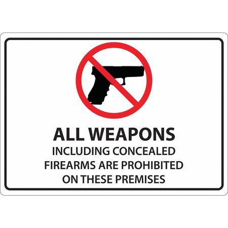 Zing Concealed Carry Sign Text And Symbol Eng 1825s Zoro