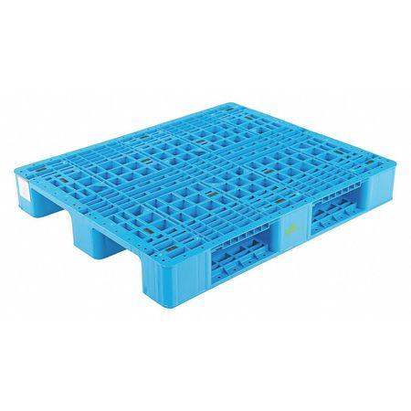 VESTIL-PLPR-4840-ST-Rackable-Blue-Plastic-Pallet thumbnail 2