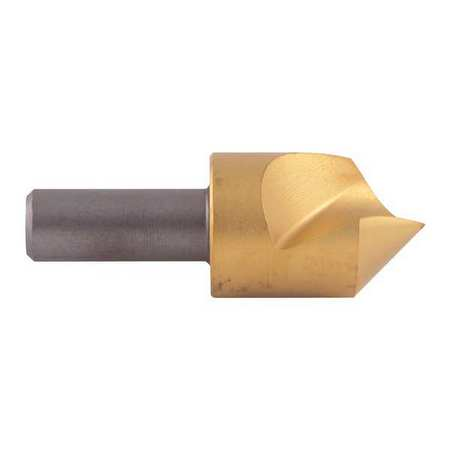 Countersink, 1 FL, 82 Deg, 1 In, Cobalt, TiN