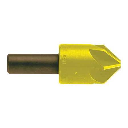 Countersink, 6 FL, 100 Deg, 1/2, Cobalt, TiN