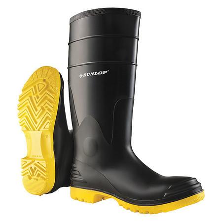 "Knee Boots, Sz 6, 16"" H, Black, Stl, PR"