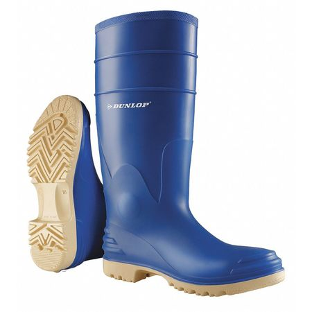"Knee Boots, Sz 10, 16"" H, Blue, Stl, PR"