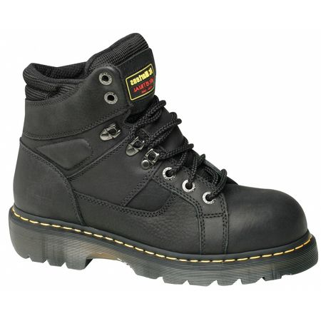 Dr. Martens Work Boots, Sz9, All Leather, Black, 6inH, PR ...