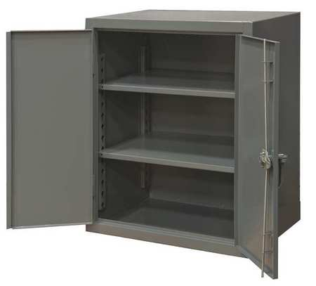 Counter Height Storage Cabinet, Gray, 12ga - Durham Counter Height Storage Cabinet, Gray, 12ga HDC-244842-2S95