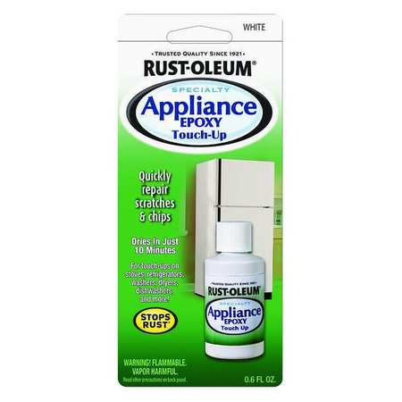 Rust Oleum Appliance Touch Up Paint White 0 6 Oz 203000