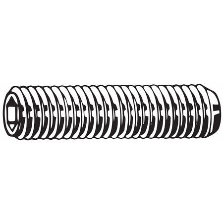 Socket Set Screw, Cup, M6 x 1mmx12mm, PK50