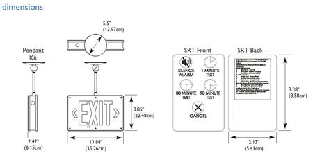 philips chloride philips chloride cast aluminum led exit sign rh zoro com Drop Down Exit Sign Day-Brite Exit Sign