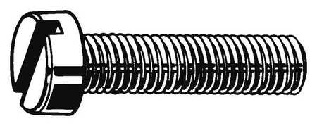 M6-1.0 x 10 mm. Cheese Head Slotted Machine Screw,  25 pk.