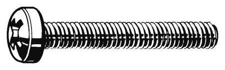 M6-1.0 x 16 mm. Pan Head Phillips Machine Screw,  25 pk.